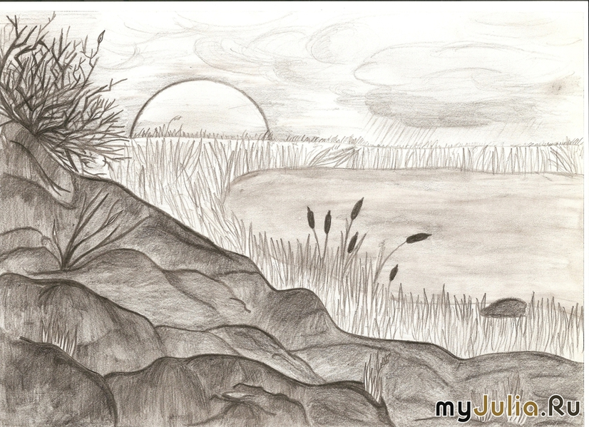 Landscape for drawing posted on sketch