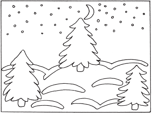 Funny preschool winter coloring pages #3693