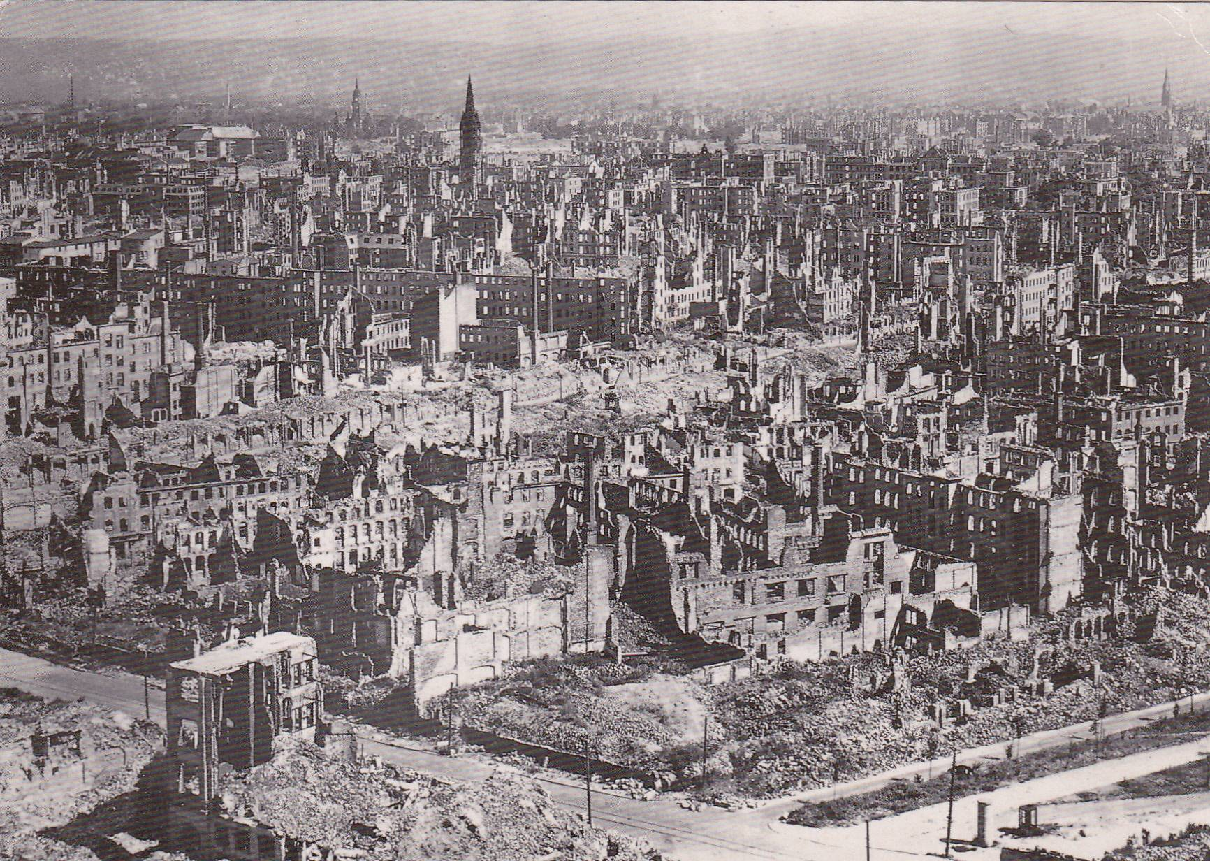 bombing of dresden Aerial night shots of bombs bursting, incendiary fires and antiaircraft fire during bombing raid dresden aerial shots of formation of flying fortresses with vapour trails - day after the raf.