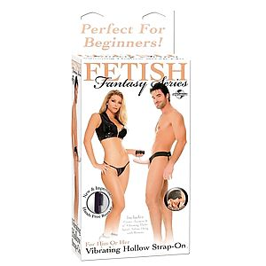 FF VIBRATING HOLLOW STRAP ON - FLESH 336721PD - Фото 1