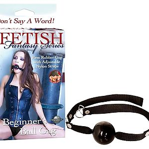 Кляп BEGINNER'S BALL GAG BLACK 216123PD - Фото 1