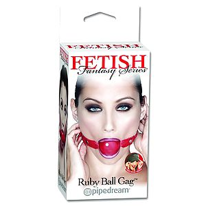 Кляп FF RUBY BALL GAG 213115PD - Фото 1